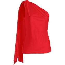 Brandon Maxwell Women's Sash One-Shoulder Satin Top - Red - Size 2 found on MODAPINS from Saks Fifth Avenue for USD $535.50