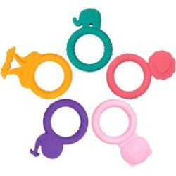 DEALS Five-Pack Silicone Baby Teethers