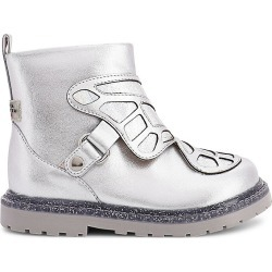 Sophia Webster Baby's, Little Girl's & Girl's Karina Metallic Boots - Silver - Size 32 EU (13.5 Child US) found on Bargain Bro India from Saks Fifth Avenue for $275.00