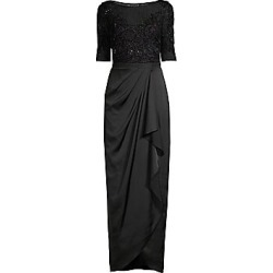 Aidan Mattox Women's Beaded Gown With Wrap Skirt - Black - Size 8 found on MODAPINS from LinkShare USA for USD $297.00