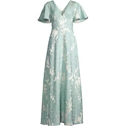 Aidan Mattox Women's Embroidered Flutter-Sleeve Gown - Mint - Size 10 found on MODAPINS from Saks Fifth Avenue for USD $395.00