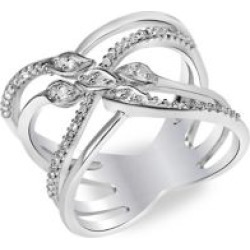 Bague empilable en argent sterling avec diamants 0,2 ct PT found on Bargain Bro India from La Baie for $425.00