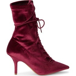 Yeezy Women's Velvet Heeled Boots - Oxblood - Size 36 (6) found on MODAPINS from Saks Fifth Avenue OFF 5TH for USD $249.99