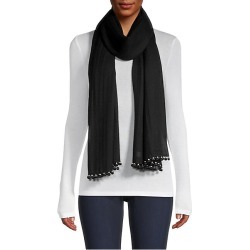 Janavi Women's Pom-Pom & Pearl-Trim Cashmere Scarf - Black found on MODAPINS from Saks Fifth Avenue for USD $362.50