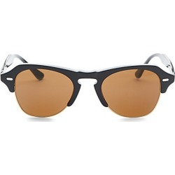 Kyme Men's 48MM Clubmaster Sunglasses - Shiny Black found on MODAPINS from Saks Fifth Avenue for USD $320.00