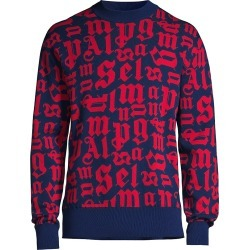 Palm Angels Men's Broken Monogram Sweater - Navy Blue - Size XL found on MODAPINS from Saks Fifth Avenue for USD $432.00