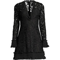 Alexis Women's Nuray Lace Mini Dress - Black Lace - Size Medium found on MODAPINS from Saks Fifth Avenue for USD $338.80