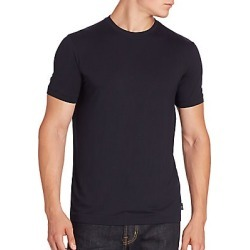Armani Collezioni Men's Solid Crewneck Tee - Navy - Size Medium found on MODAPINS from Saks Fifth Avenue for USD $150.00