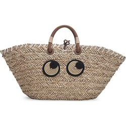 Anya Hindmarch Women's Large Eyes Straw Tote - Natural found on MODAPINS from Saks Fifth Avenue for USD $750.00