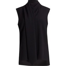 Adam Lippes Women's Wrapped Scarf Crepe Shell Top - Black - Size 14 found on MODAPINS from Saks Fifth Avenue for USD $400.50