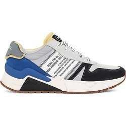 Diesel Men's Brentha Flow Mixed-Media Sneakers - Light Grey - Size 8 found on MODAPINS from Saks Fifth Avenue for USD $99.00