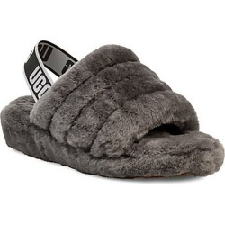 UGG Women's Fluff Yeah Sheepskin Slingback Slippers - Grey - Size 10 found on Bargain Bro India from Saks Fifth Avenue for $100.00