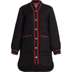 Tweed Long Puffer Coat