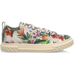 Giuseppe Zanotti Women's Blabber Floral Leather Sneakers - Bianco - Size 7.5 found on Bargain Bro from Saks Fifth Avenue for USD $528.20