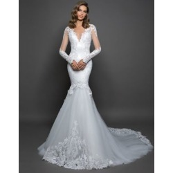 Long Sleeve Lace Mermaid Gown found on Bargain Bro India from La Baie for $5750.00