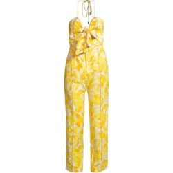 Rockpool Floral Print Pintuck Linen-Blend Jumpsuit found on Bargain Bro Philippines from Saks Fifth Avenue AU for $253.08