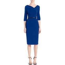 Black Halo Women's Jackie O Three-Quarter Sleeve Dress - Cobalt - Size 6 found on MODAPINS from Saks Fifth Avenue for USD $375.00