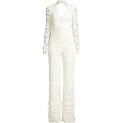 Alexis Women's Choker Long Sleeve Lace Jumpsuit - White - Size Small found on MODAPINS from Saks Fifth Avenue for USD $660.00