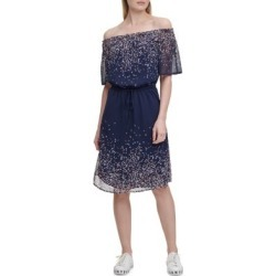 Printed Ruched Off-The-Shoulder Dress found on Bargain Bro Philippines from The Bay for $49.96