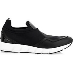 Salvatore Ferragamo Men's Columbia Leather & Neoprene Low-Top Sneakers - Black - Size 7 M found on MODAPINS from Saks Fifth Avenue for USD $575.00