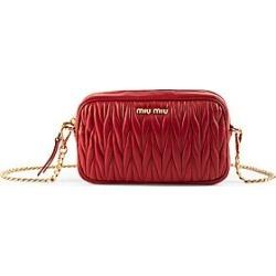 Miu Miu Matelassé Leather Belt Bag - Nero