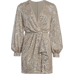 Amen Women's Faux-Wrap Sequin Mini Dress - Platinum - Size 48 (12) found on MODAPINS from Saks Fifth Avenue for USD $202.50