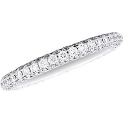 De Beers Women's Darling 18K White Gold & Diamond Half Pave Eternity Band - Size 6 found on Bargain Bro India from Saks Fifth Avenue for $3500.00
