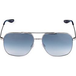 Barton Perreira Men's 60MM Square Aeronaut Sunglasses - Silver found on MODAPINS from Saks Fifth Avenue for USD $400.00