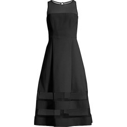 Aidan Mattox Women's Mesh Detail Fit & Flare Dress - Black - Size 6 found on MODAPINS from Saks Fifth Avenue for USD $195.00
