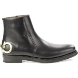 Gancini Leather Ankle Boots found on MODAPINS from Saks Fifth Avenue UK for USD $1393.42