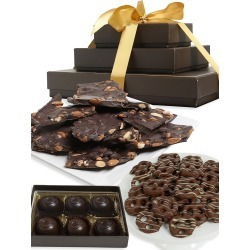 Chocolate Covered Company Dark Chocolate-Covered Gift Tower found on Bargain Bro from Saks Fifth Avenue for USD $57.00