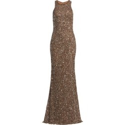 Crunchy Sequin Sleeveless Gown