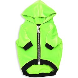 Very Important Puppies Velvet Hoodie Dog Coat - Monster Green - Size XS