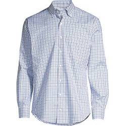 Peter Millar Men's Crown Ease Stretch Cotton Check Shirt - Acai Berry - Size Small found on Bargain Bro Philippines from Saks Fifth Avenue for $129.00