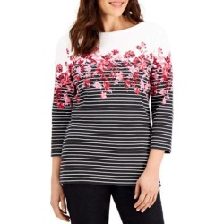 Floral Cascade Boatneck Top found on Bargain Bro Philippines from The Bay for $12.96