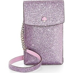 Kate Spade New York Women's Glitter Leather Crossbody iPhone Case - Lilac found on Bargain Bro India from Saks Fifth Avenue for $128.00