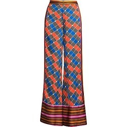 Alexis Women's Roel Colorblock Grid Print Wide-Leg Pants - Fuchsia Geo Scarf - Size Small found on MODAPINS from Saks Fifth Avenue for USD $290.40