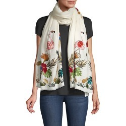 Janavi Women's Tropical Paradise Cashmere Scarf - Ivory found on MODAPINS from Saks Fifth Avenue for USD $1125.00