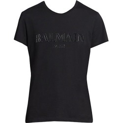 Balmain Men's Logo Tee - Black - Size Medium found on MODAPINS from Saks Fifth Avenue for USD $395.00