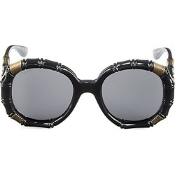 Gucci Women's 54MM Bamboo-Effect Round Sunglasses - Black found on Bargain Bro India from Saks Fifth Avenue for $580.00