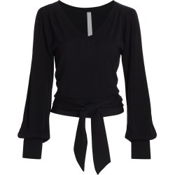 Merlette Women's Phillimore Wrap Sweater - Black - Size Large found on MODAPINS from Saks Fifth Avenue for USD $320.00