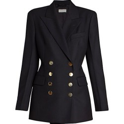 Dries Van Noten Women's Double Breasted Wool Jacket - Navy - Size 40 (8-10) found on Bargain Bro Philippines from Saks Fifth Avenue for $1315.00