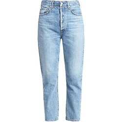 Agolde Women's Riley High-Rise Cropped Straight-Leg Jeans - Blur - Size 30 (8) found on MODAPINS from Saks Fifth Avenue for USD $188.00