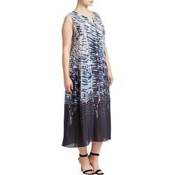 NIC + ZOE, Plus Size Women's Tinago Printed Sleeveless Dress - Size 1X found on Bargain Bro India from Saks Fifth Avenue for $218.00