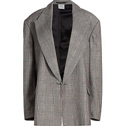 Vetements Women's Open Sleeve Wool Jacket - Grey Beige Check - Size Small found on MODAPINS from Saks Fifth Avenue for USD $716.00
