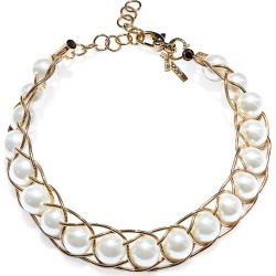 Lele Sadoughi Women's Braided Pearl Collar Necklace - Ivory found on Bargain Bro from Saks Fifth Avenue for USD $172.90