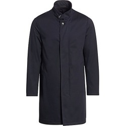 Giorgio Armani Men's Coated Wool Solid Interlock Water Resistant Coat - Navy - Size 54 (44) R