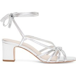 Loeffler Randall Women's Libby Ankle-Wrap Metallic Leather Sandals - Silver - Size 8.5 found on MODAPINS from Saks Fifth Avenue for USD $245.00