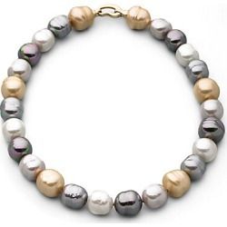 Majorica Women's 14MM Multicolor Baroque Pearl Necklace found on Bargain Bro Philippines from Saks Fifth Avenue for $340.00