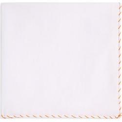 Brunello Cucinelli Men's Whipstitch Pocket Square - White Orange found on MODAPINS from Saks Fifth Avenue for USD $195.00